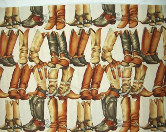 18 Inches of  Line Dance  horse Fabric The Alexander Henry Fabric Collection from 1997 OOP