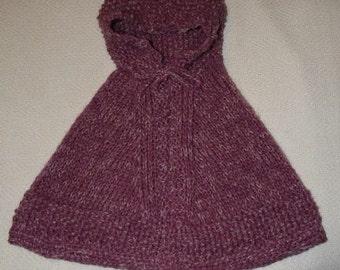 Baby poncho wool handmade