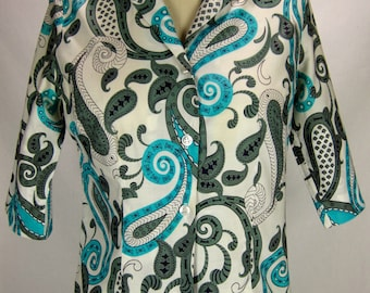 Vintage 1960s Cotton Paisley Blouse