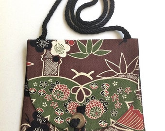 """SALE - Shoulder Purse """"Butterfly"""" In Japanese Print"""