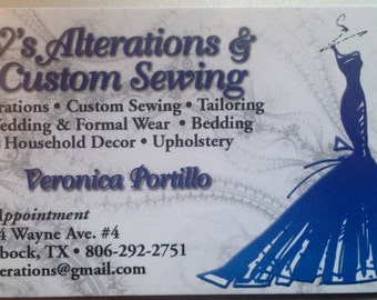 Custom Sewing Service