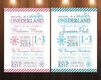 Winter ONEderland Party Invite
