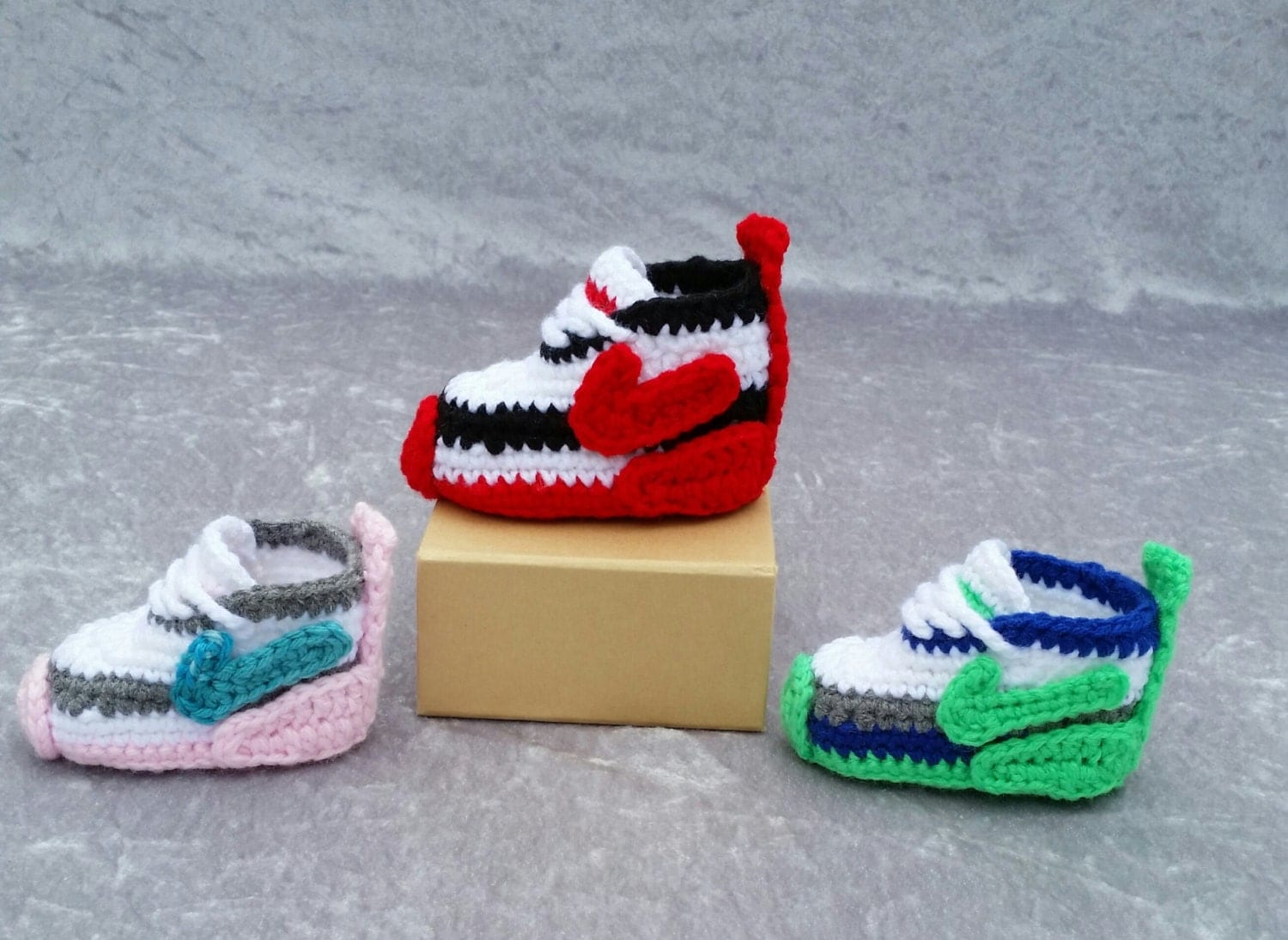 Crochet Shoes : crochet Nike inspired tennis shoes handmade by DolceStitches