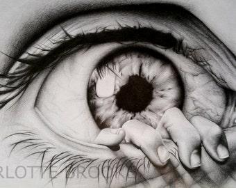 The Eye Pencil Drawing Print