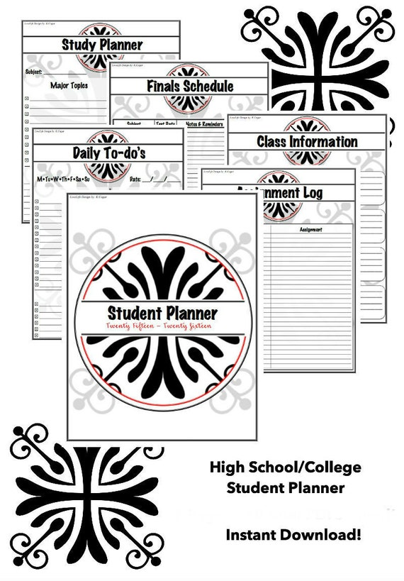 2015-2016 College and High School Complete Student Planner