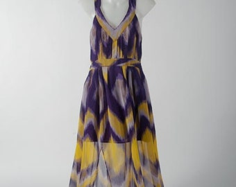 Cross-backed Maxi in Ikat Print