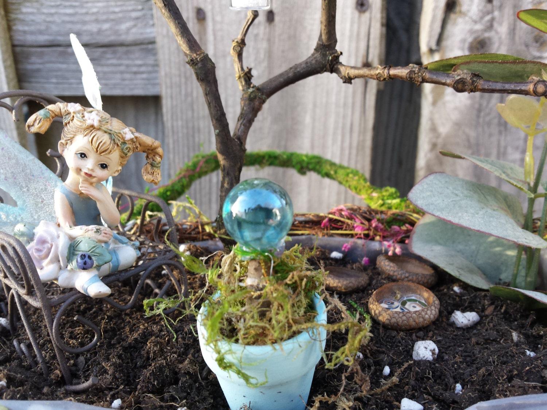 Blue fairy fairy garden kit fairy garden by for Fairy garden kits