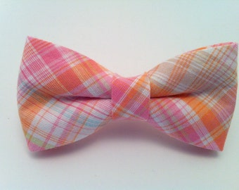 Men's Madras Bow Tie - Plaid Bow Tie for Adults, Mens Bowtie, Bowties, Bow Ties for Men