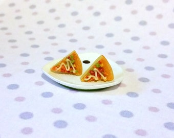 Miniature Slices of Pizza Earrings