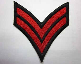 Corporal Stripe Apocalypse Military Iron on Patch