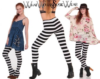 Striped EXTRA Long Leggings Tights DaddyLongLegz S/M/L/XL