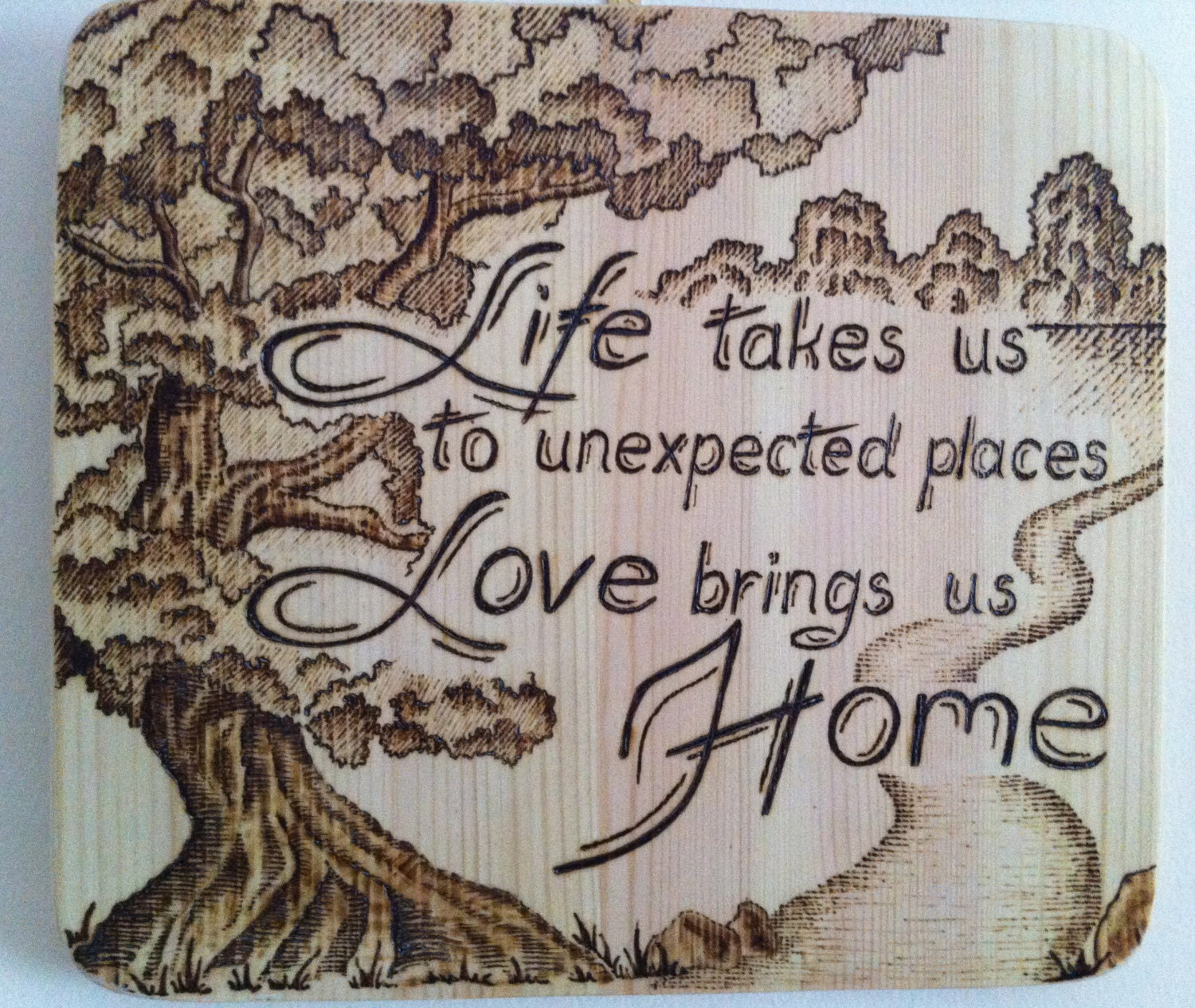 Wood Burning Home Decor Wall Hanging Wood Board Sign