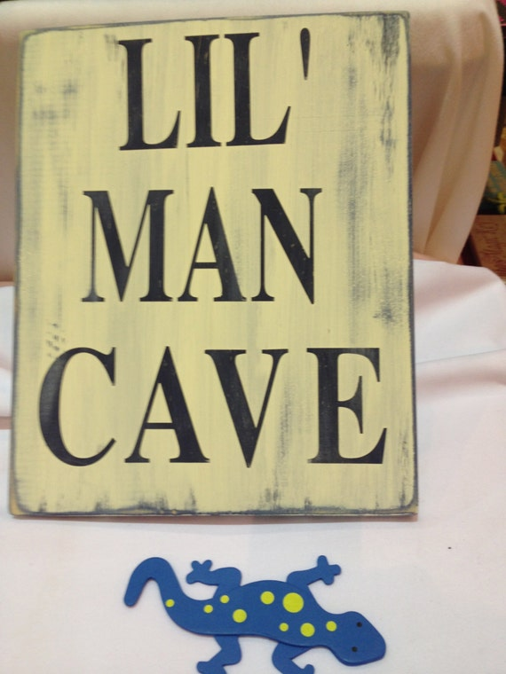 Lil Man Cave Ideas : Lil man cave bright fun wood sign perfect for by