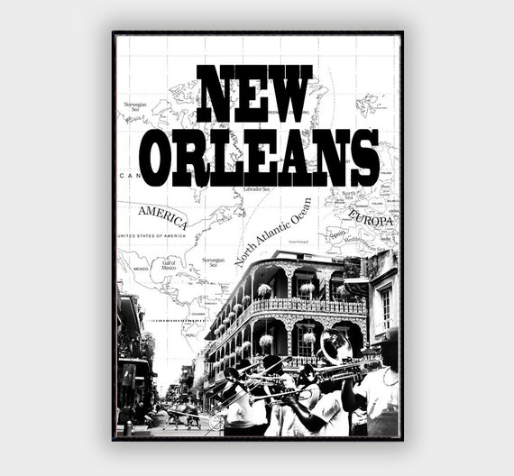 New Orleans Wall Decor Painting Famous Cities With By