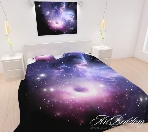 BEDDING 4 Piece Galaxy Bedding Set Purple Galaxy By ArtBedding