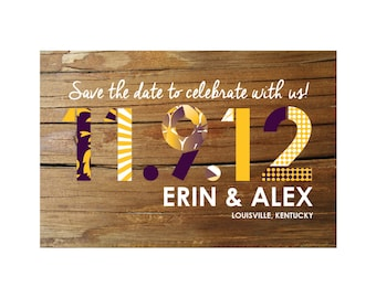 Wood + Pattern Save the Date