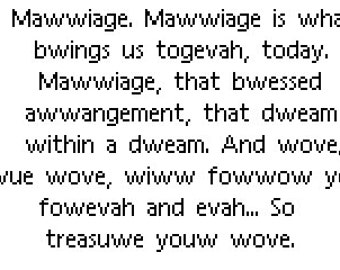 Mawwiage full quote cross stitch pattern