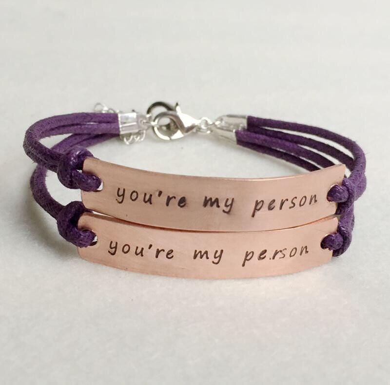 Matching couple bracelets Personalized couple bracelet