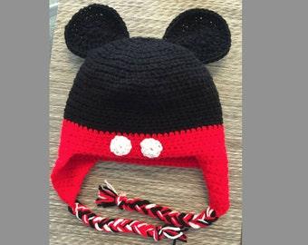 Handmade Crochet Mickey Mouse Hat