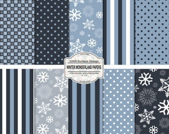 Winter Wonderland Digital Scrapbooking Papers