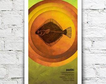 Paatiki illustration print – New Zealand native fish series. 2 sizes, limited series.