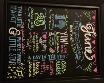 Child's Birthday Personalized Chalkboard Sign