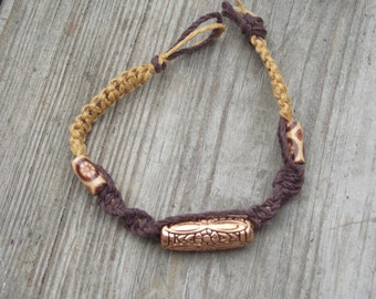 Beaded Hemp Macrame Bracelet