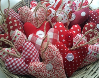 Mini Fabric Heart