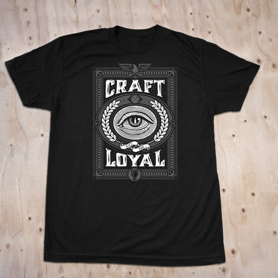 Craft beer t shirt eyecon by craftloyal on etsy for Craft brewery t shirts