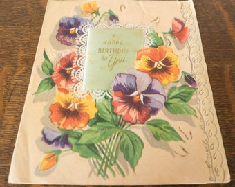 Vintage Greeting Card - A HAPPY BIRTHDAY to You - 1940s