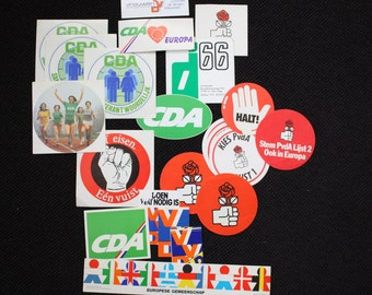 Dutch election stickers
