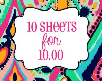 10 Sheets for 10 Dollars