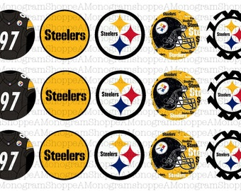 Pittsburgh Steelers Inspired Bottle Cap Images