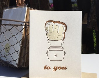 A Toast To You letterpress card
