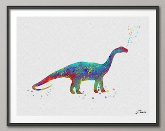 dinosaur Print dinosaur watercolor dinosaur art illustration dinosaur poster wall decor wall hanging art decor dinosaur poster gift A023