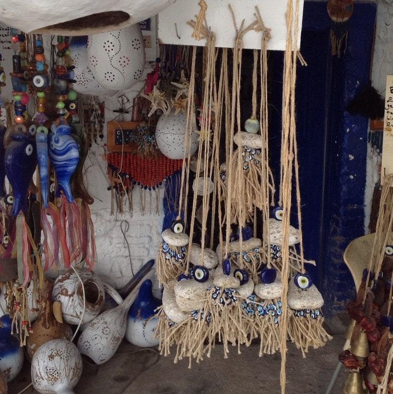 Handmade Hanging Decor Evil Eye Bead Pumice Stone And The