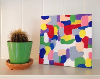 Abstract Oil Colorblock painting