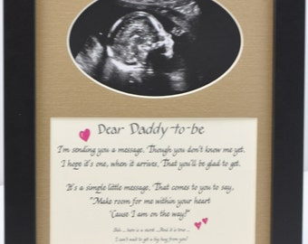 8x10 Daddy to Be Ultrasound Photo Desktop Frame - Dad Gift Father Sonogram Picture - baby announcement