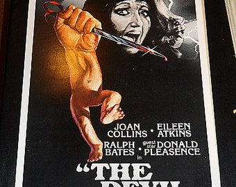 The Devil Within Her! '1976 original Joan Collins classic horror insert size film poster!
