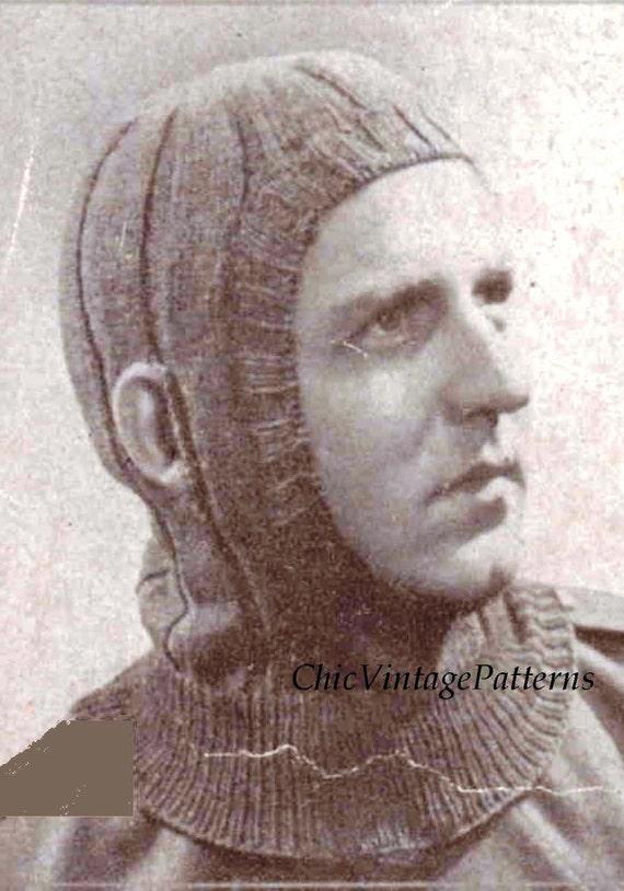 Patons Balaclava Knitting Pattern : Knitted Balaclava Helmet....PDF Knitting by ...