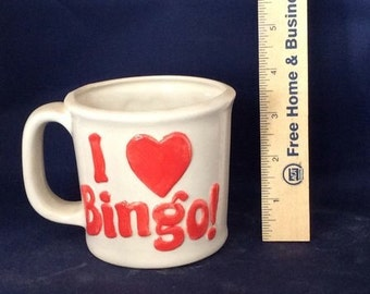 Ceramic I Love Bingo cup