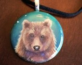 Painted bear pendant