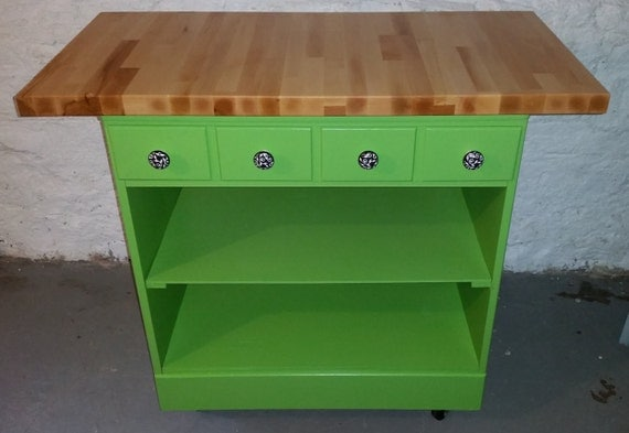 Items Similar To Green Portable Kitchen Island With