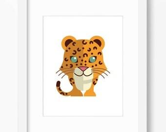 Leopard Print, Leopard Art, Nursery Art, Nursery Print, Nursery Leopard Print, Nursery Leopard Art, Kids Leopard Art, Kids Leopard Print