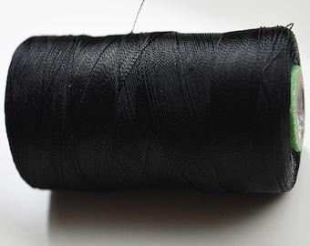 Black Silk Thread Spool, Art Silk Thread, Hand And Machine Embroidery Thread, Art Silk Embroidery Thread, Wholesale Indian Silk Thread