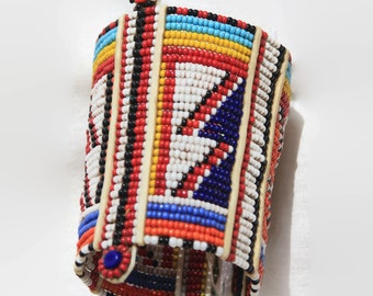 Wristband Maasai Masai beaded bracelet Africa tribal handmade fair trade authentic colour bright big gift Christmas jewelry jewellery Kenya
