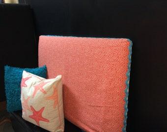 Beach Bungalow Bedroom Upholstered Headboard Slipcover