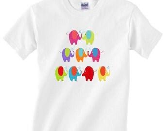 Kids Elephants Tee Shirt Elephant tshirt