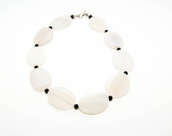 Necklace from Egypt hand made with onyx and semi precious stones 6979