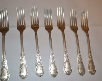 Vintage set of 7 german alpaka  forks tjan51